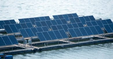 Floating solar power plant