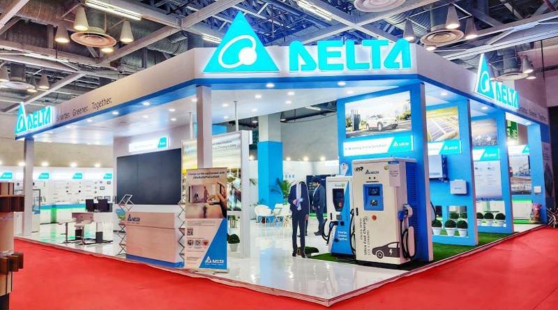 Delta Electronics stand at Elecrama 2020