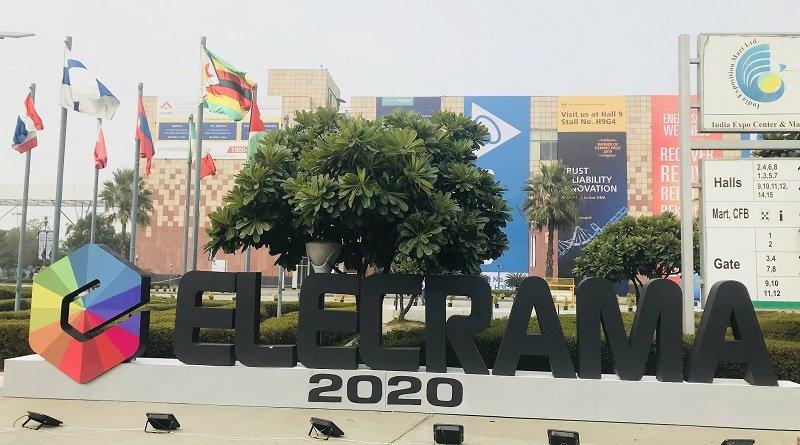 Elecrama 2020 trade show Entrance