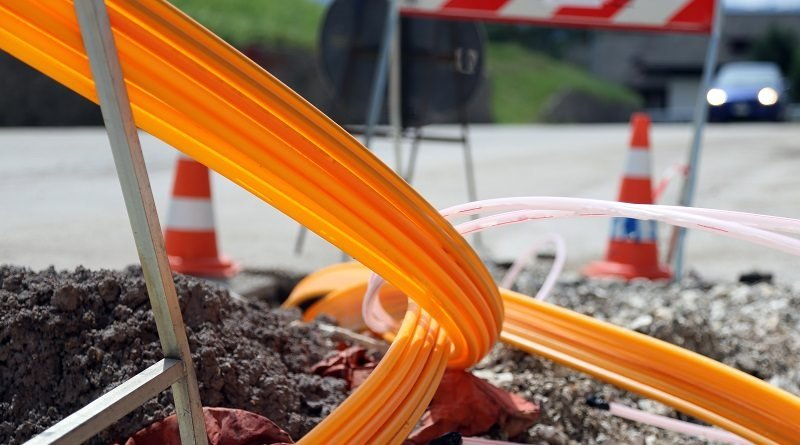 Laying of optical fiber cables