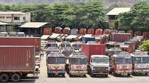 Trucks stranded due to Corona Virus lockdown