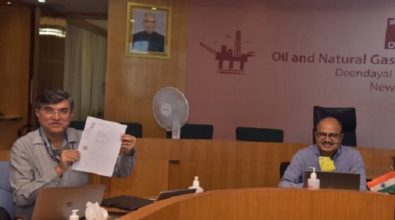 ONGC and NTPC officials sign MoU to form Renewable JV