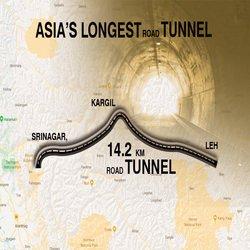 Zojila Tunnel Map