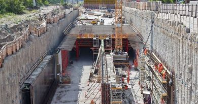 Tunnelling work under progress