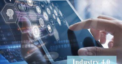 Industry 4.0 futuristic concept