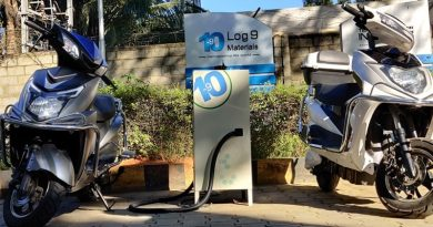 Log 9 Materials' EV Fast Charging batteries in use